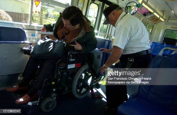 Transit bus driver Steve Winfrey is extremely helpful in making sure Janet is safely loaded unloaded and strapped securly in the bus here in El...