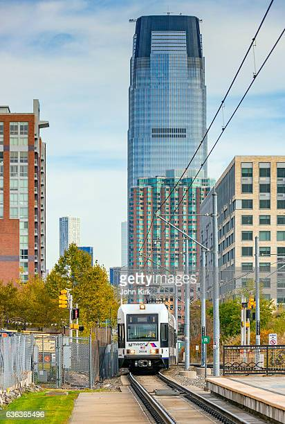 NJ Transit Hudson Bergen Light Rail service in Jersey City