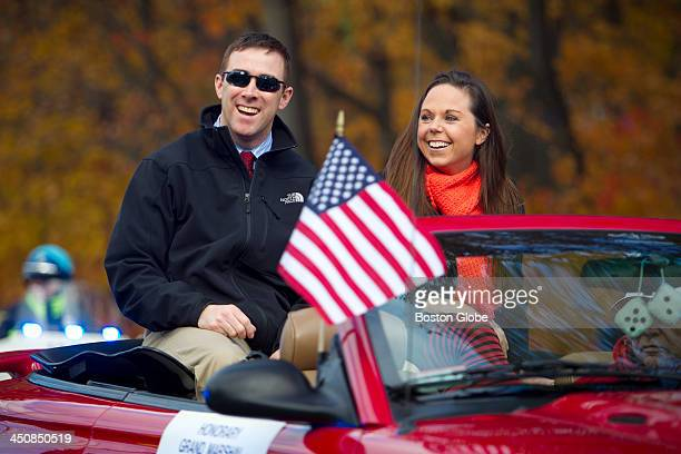 MBTA transit police officer Richard Dic Donohue was the Grand Marshal for the Woburn Host Lion's Club 59th annual halloween parade on Sunday Oct 27...