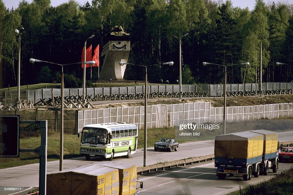Transit traffic between West and East Germany Beginning of