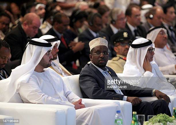 Transitional Federal Government of Somalia president Sheikh Sharif Ahmed and Deputy Ruler of of Dubai Sheikh Maktoum bin Mohammad bin Rashid attend...