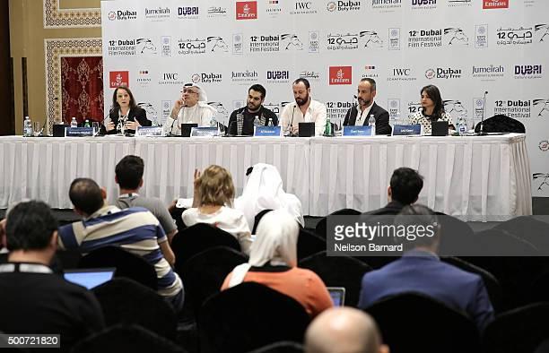 Translator Romanica Stephan Artistic Director of DIFF Masoud Amralla Al Ali director Majid Al Ansari actor Ali Suliman producer Rami Yasin and...
