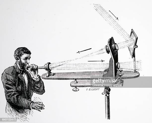 Transmitter of Bell's Photo phone vibrations of the diaphragm at the end of the mouthpiece tube caused pulses of light to be transmitted to receiver...