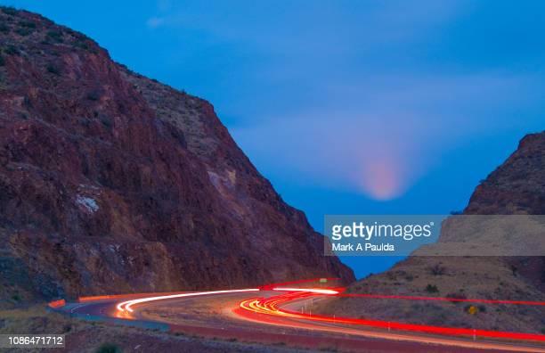 transmountain road - el paso texas stock pictures, royalty-free photos & images
