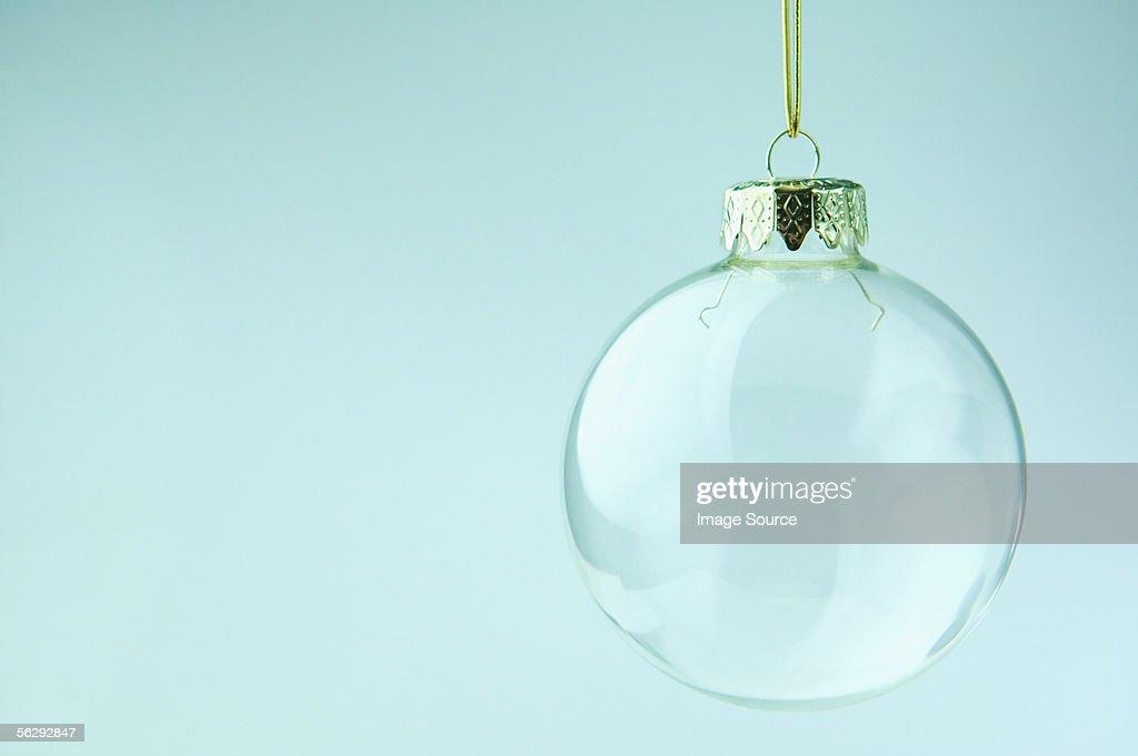 Transparent bauble : Stock Photo