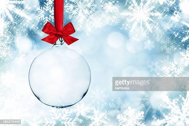 Transparent de flocons de neige de Noël en face de