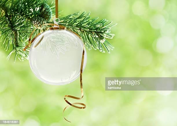 Transparent Boule de Noël sur Sapin