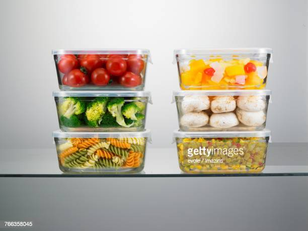 Transparent containers in refrigerator