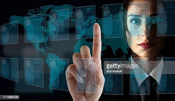 Transparent Digital Touch Screen interface