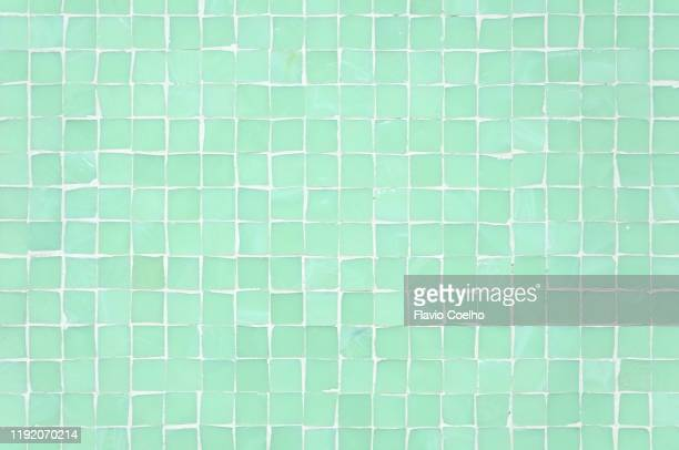 transparent glass tiles wall background - タイル ストックフォトと画像