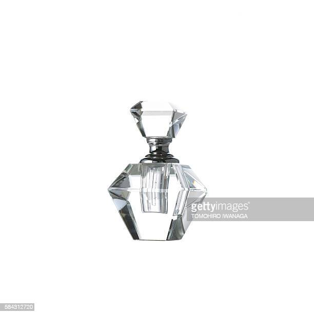 Transparent perfume bottle