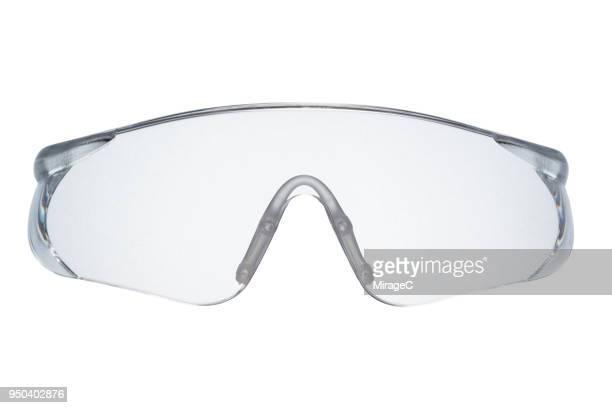 transparent plastic protective eyewear - schutzbrille stock-fotos und bilder