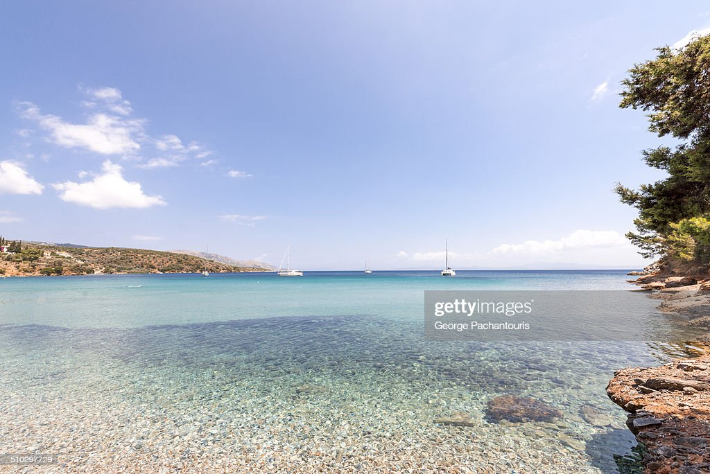 Transparent waters on a lovely beach : Stock Photo
