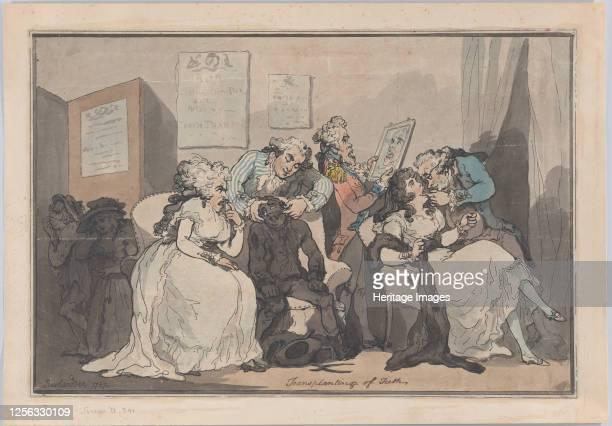 Transplanting of Teeth, 1787. Artist Thomas Rowlandson.