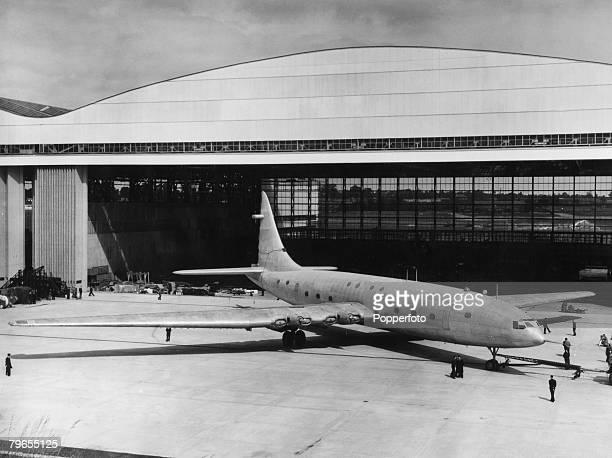 Transport Aviation Circa 1949 Bristol Brabazon airliner powered by eight Centaurus Radial engines This hugh plane was designed to fly transatlantic...