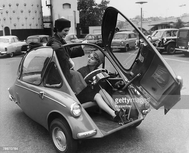 Transport Germany 1956 The Heinkel Cabin car A Bubble microcar one of several of the type that became all the rage in Europe during the 1950's and...