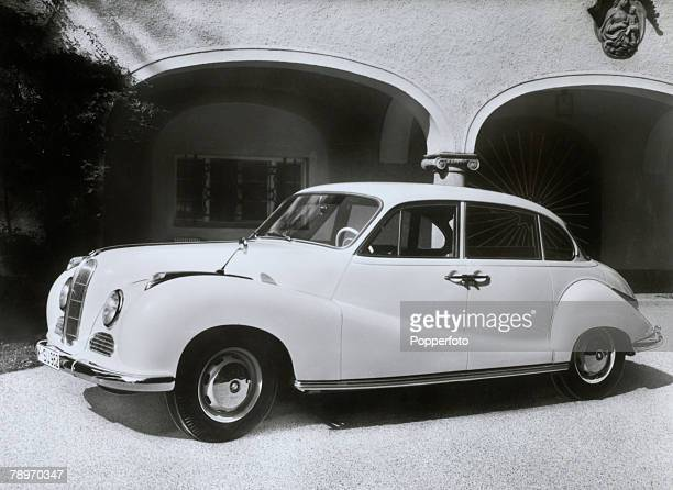 Transport Germany Circa 1950's The BMW 501 sedan car
