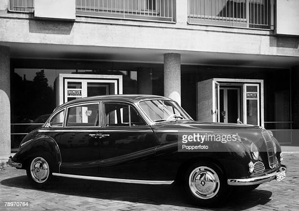 Transport Germany Circa 1950's The BMW 502 Sedan car