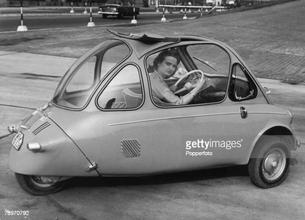 Transport Germany Circa 1950's The Heinkel Cabin car A Bubble microcar one of several of the type that became all the rage in Europe during the...