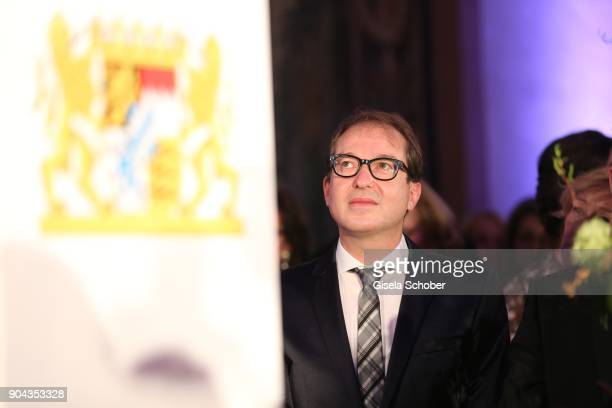 Transport minister Alexander Dobrindt during the new year reception of the Bavarian state government at Residenz on January 12 2018 in Munich Germany