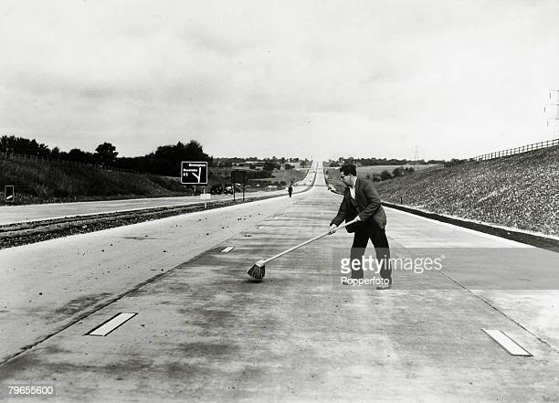 Transport Motoring Great Britain October 1959 The new M1 motorway near Luton in Bedfordshire shortly before it was opened to provide a fast link...