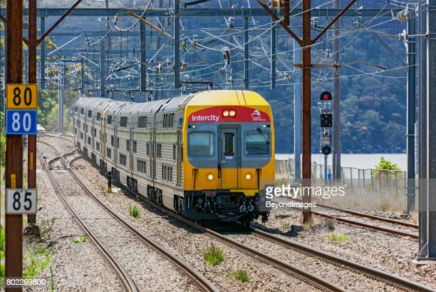 Transport NSW TrainLink Intercity service travelling in rural setting