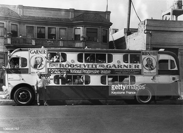 Transport Of The Electoral Agents Working In The Democrat Campaign For The American Presidential Election On October 28Th 1932