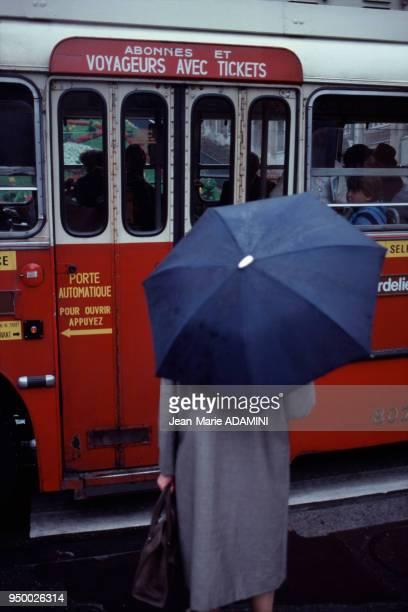 Transport public par autobus à Lyon France