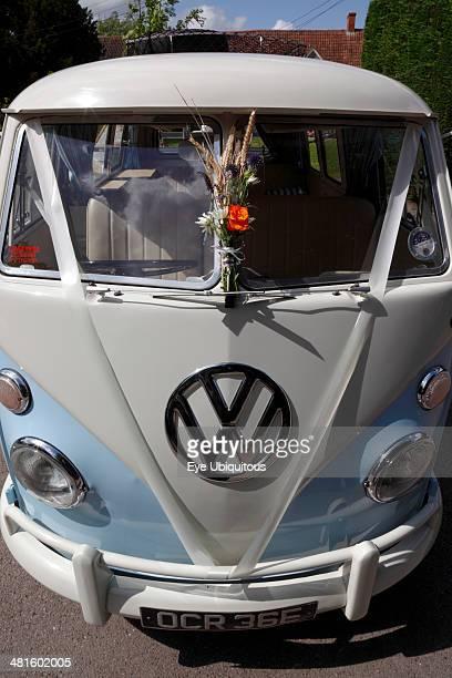 Transport Road Cars Volkswagen camper van decorated for use a wedding car