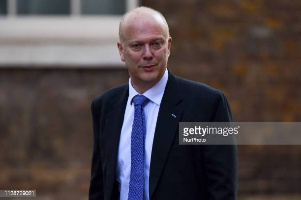 Transport Secretary Chris Grayling arrives for weekly Cabinet meeting at 10 Downing Street London on March 5 2019 Ministers will resume efforts later...
