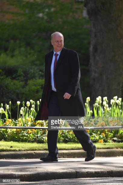 Transport Secretary Chris Grayling arriving in Downing Street London for a cabinet meeting