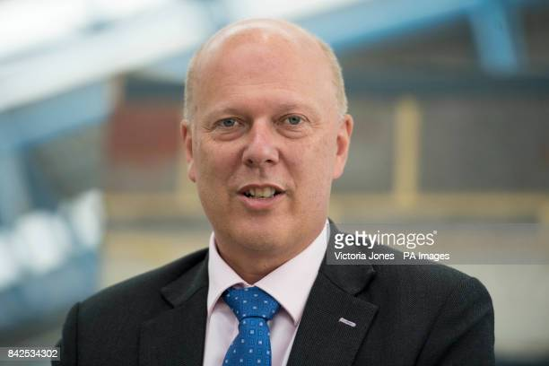 Transport Secretary Chris Grayling attends the launch of South Western Railway's new brand at Waterloo station in central London