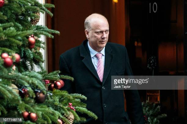 Transport Secretary Chris Grayling leaves 10 Downing Street after Government Ministers attended a weekly cabinet meeting ahead of a meaningful vote...