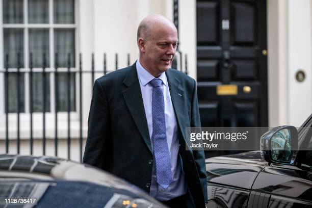 Transport Secretary Chris Grayling leaves following the weekly cabinet meeting at 10 Downing Street on March 5 2019 in London England Government...