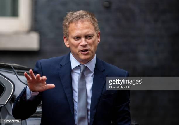 Transport Secretary, Grant Shapps, arrives at Downing Street on September 28, 2021 in London, England.