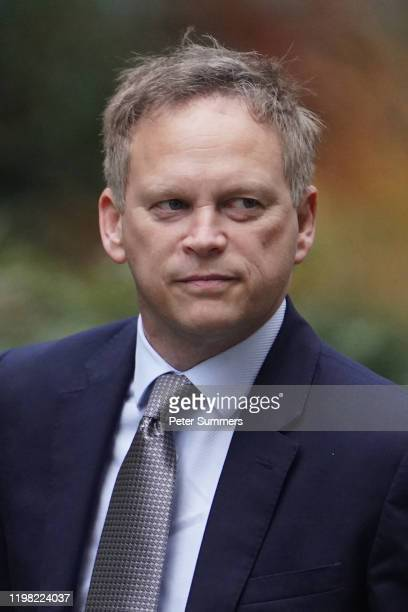 Transport Secretary Grant Shapps arrives in Downing Street ahead of the first PMQs after Christmas recess on January 8 2020 in London England