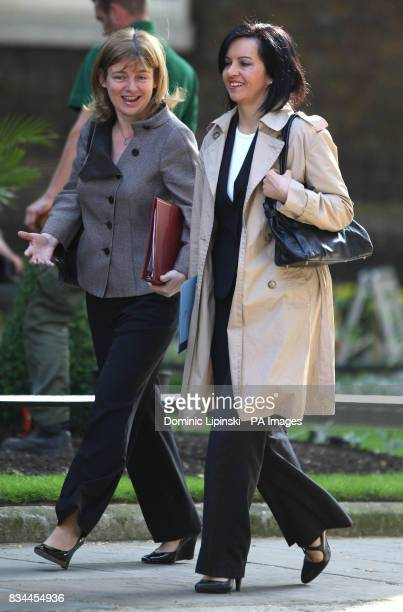 Transport Secretary Ruth Kelly and Caroline Flint Minister for Housing arrive for a cabinet meeting at 10 Downing Street London