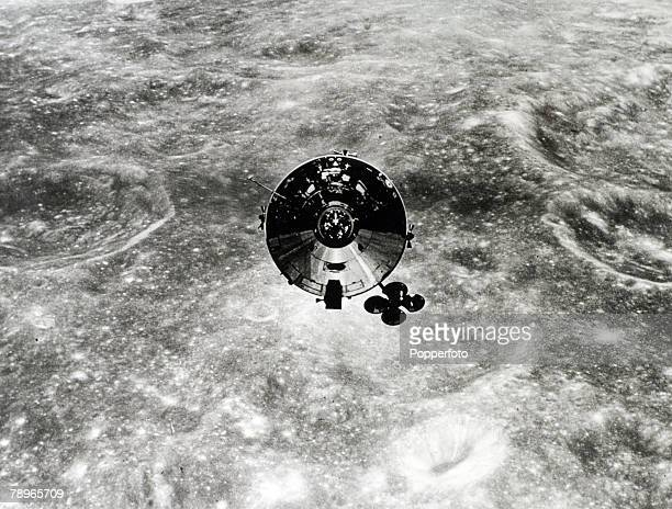 Transport Space Exploration Apollo 10 Mission to the Moon May 1969 The Nasa Command module orbits the moon