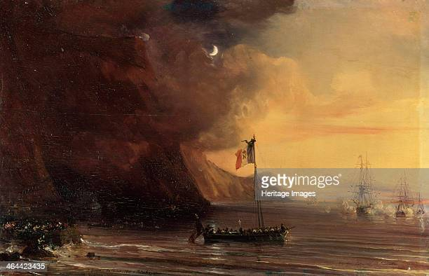 'Transport with Napoleon's body 1841 Transport with Napoleon's body on the way from the Saint Helena island back to France in 1840 Gudin Théodore...