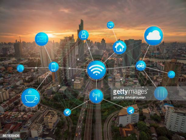 transportation and communication and internet at modern , abstract image . - home icon stock photos and pictures