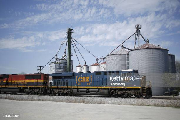 Transportation Inc freight locomotive pulls a train through Bowling Green Kentucky US on Friday April 13 2018 CSX Corp is scheduled to release...