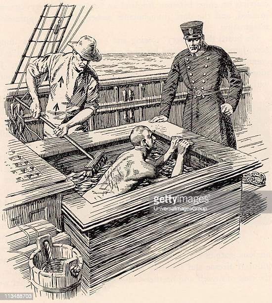 Transportation of convicts from Britain to Australia in the 19th century The regime on board the convict ships was harsh as were the punishments Here...