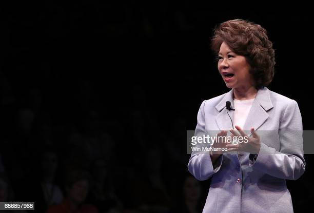 S Transportation Secretary Elaine Chao participates in the opening plenary of the Cooperative for Assistance and Relief Everywhere 2017 National...