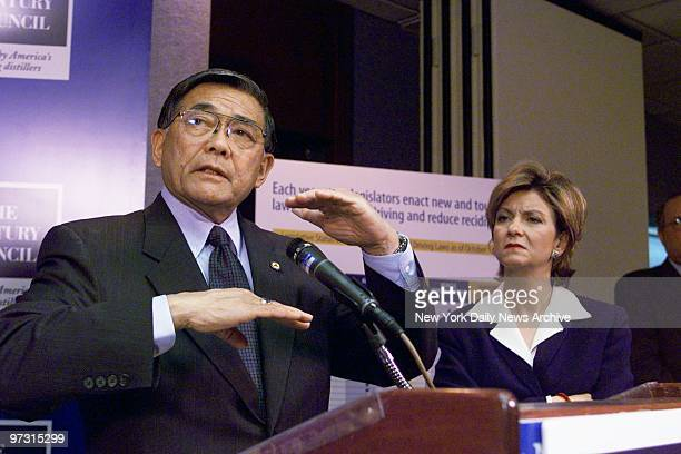 Transportation Secretary Norman Mineta announces an agreement between the Distilled Spirits Industry and MADD to support a 08 bloodalcohol limit when...
