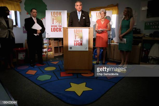 S Transportation Secretary Ray LaHood and Health and Human Services Secretary Kathleen Sebelius hold a news conference to launch the Look Before You...