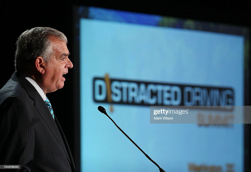 Transportation Secretary Ray LaHood speaks at the 2010 Distracted Driving Summit on September 21, 2010 in Washington, DC. Secretary Hood said that new federal statistics show that nearly 5,500 people died in 2009 in cell phone related traffic accidents and 450,000 others were injured.