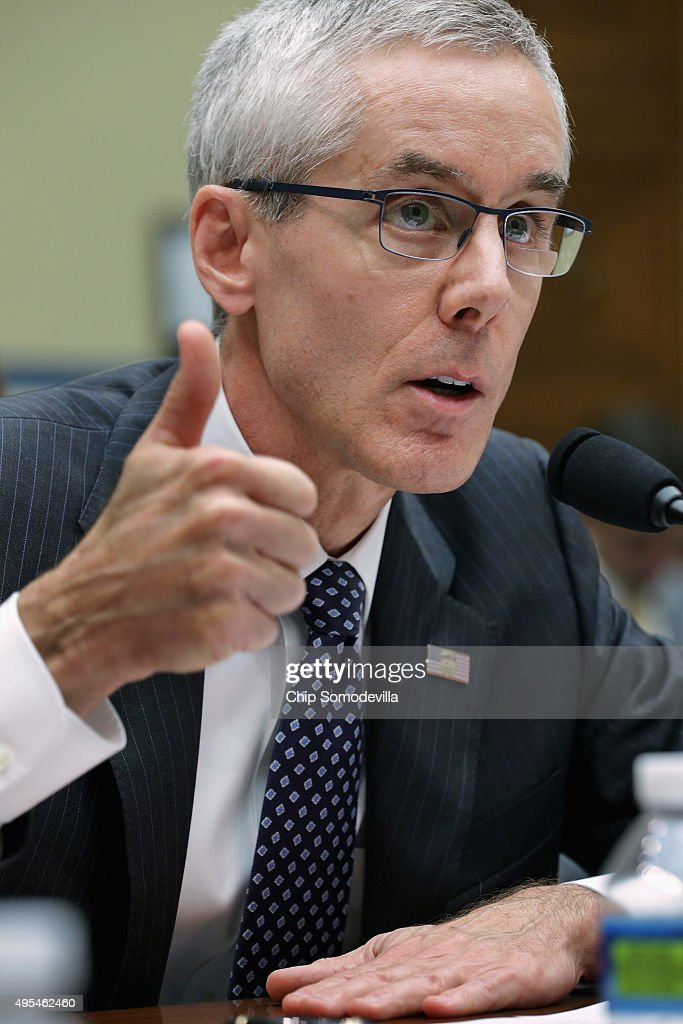 Transportation Security Administration Adminstrator Peter Neffenger testifies before the House Oversight and Government Reform Committee about lapses in TSA screening in the Rayburn House Office Building on Capitol Hill November 3, 2015 in Washington, DC. Leaked to the news media earlier this year, a TSA inspector general's report found that investigators were able to slip through airport security with weapons and phony bombs more than 95 percent of the time at different airports across the country, constituting 'significant breeches,' according to Homeland Security Inspector General John Roth.