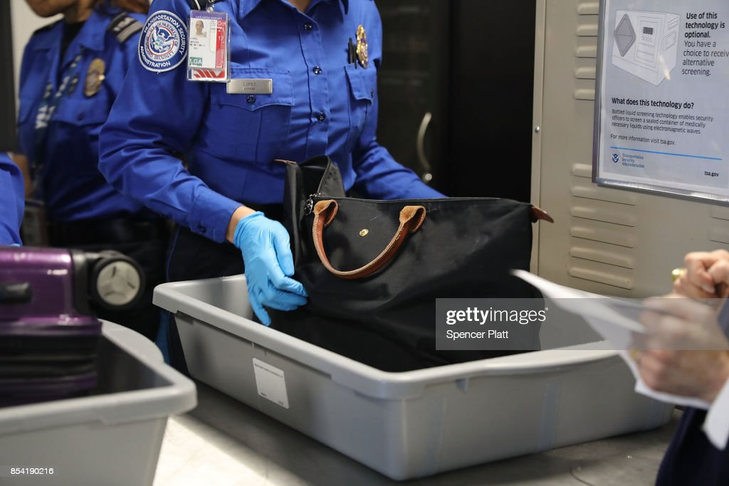 TSA Officials And Delta Introduce Automated Security Screening Lanes At LaGuardia Airport : News Photo