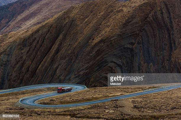 Transportation through the Himalayas Mountain Pass