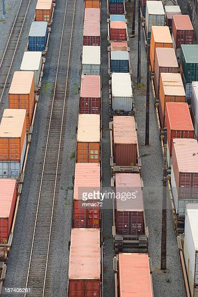transportation train - cargo train stock photos and pictures